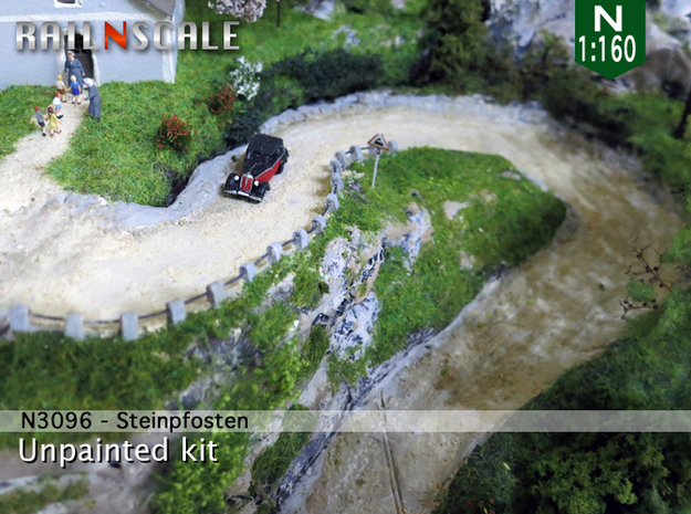 Steinpfosten (N 1:160) in White Strong & Flexible