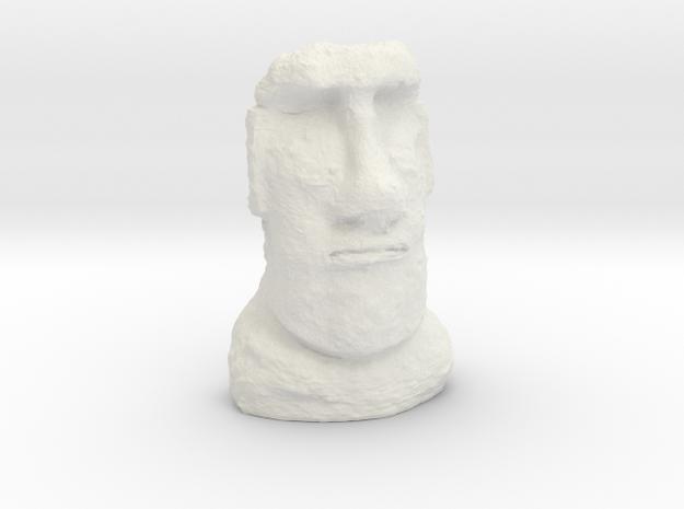 28mm/32mm scale Moai Head  in White Natural Versatile Plastic
