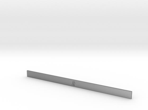 Moon-glyph-wire-air-100mmx6mmx1.2mm in Raw Silver