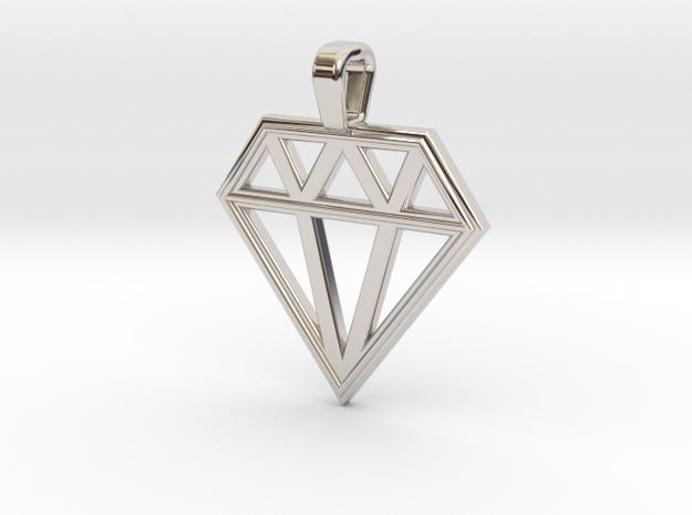 Diamond in Rhodium Plated