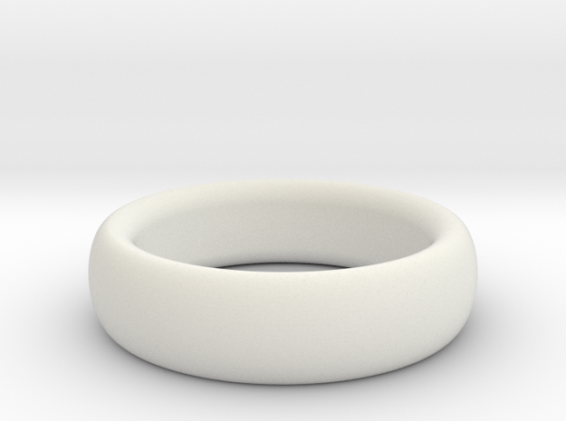 Plain Ring flat inside size11 w 7mm  t 3.2mm  in White Natural Versatile Plastic