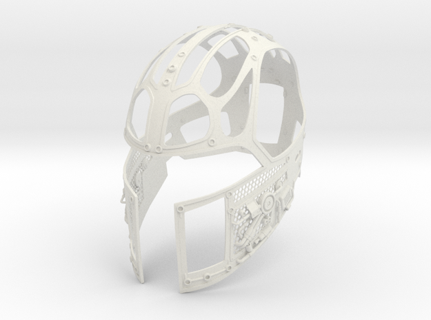 J6-9-Skeleton in White Natural Versatile Plastic