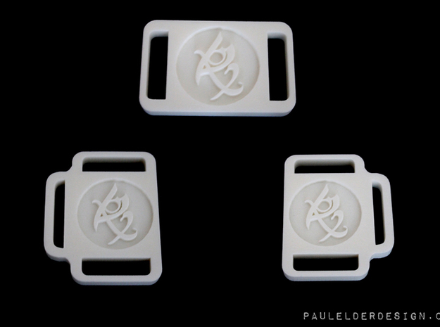 TMI Fearless Rune Buckle 3d printed This is for the Belt Buckle. To purchase side strap buckles see below :)