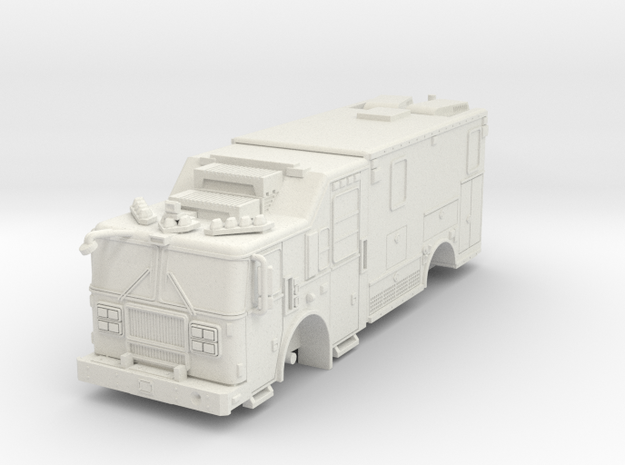 1/87 FDNY seagrave-communication-truck in White Natural Versatile Plastic