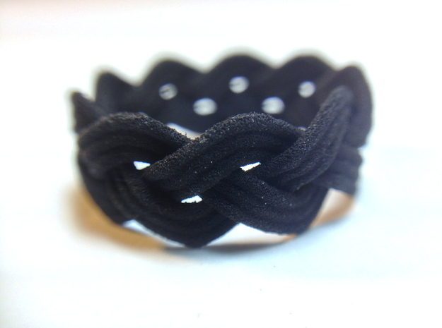 Turk's Head Knot Ring 3 Part X 9 Bight - Size 7.5 3d printed