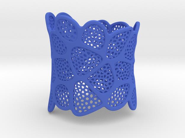 Double Voronoi Bracelet (v2) in Blue Processed Versatile Plastic