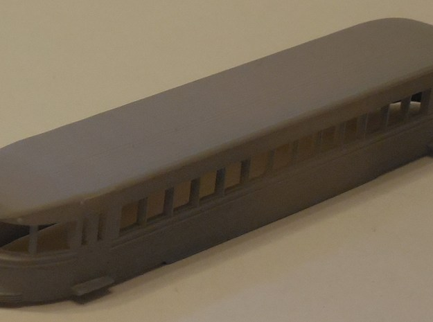 N Scale Brill Bullet Body Shell in Black Hi-Def Acrylate