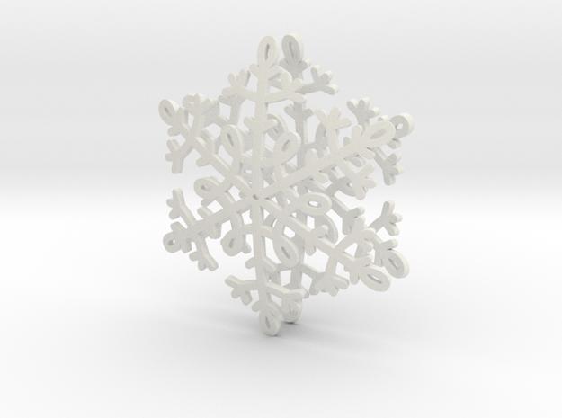 Snowflake Earrings in White Natural Versatile Plastic