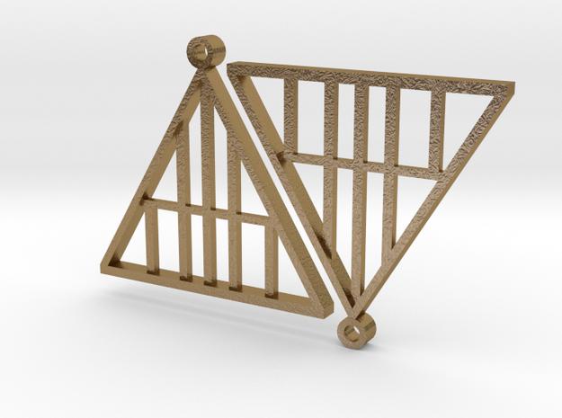 A Frame Earrings in Polished Gold Steel