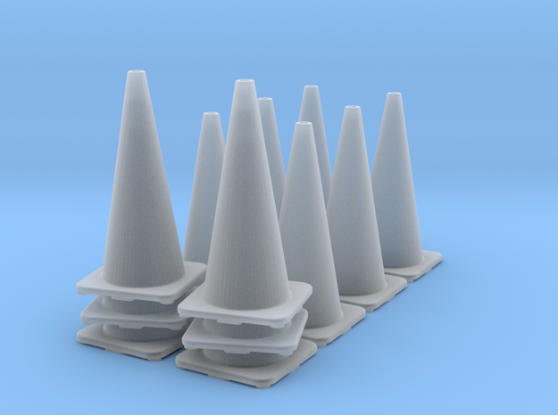 1/35 Road Cone Set in Smooth Fine Detail Plastic