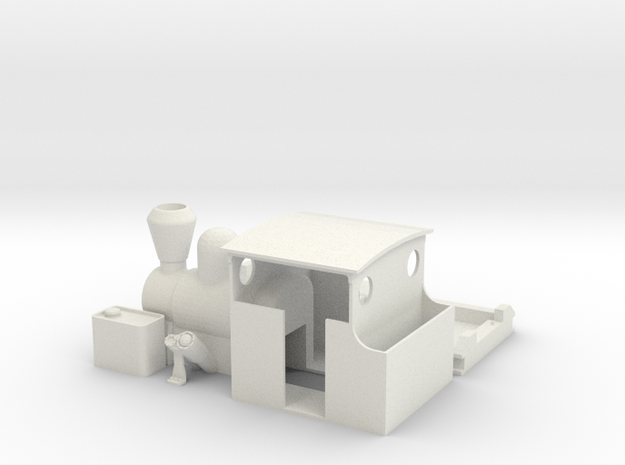 7mm Heisler type loco in White Strong & Flexible