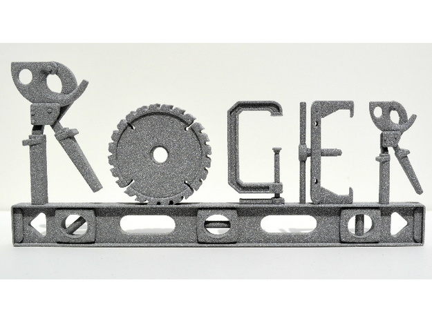 Roger Nametag in Aluminum