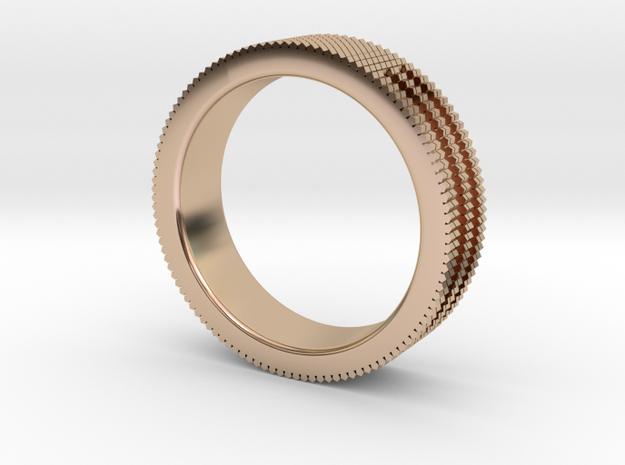 Ø0.687 inch/Ø17.45 mm Prisma Ring in 14k Rose Gold Plated Brass