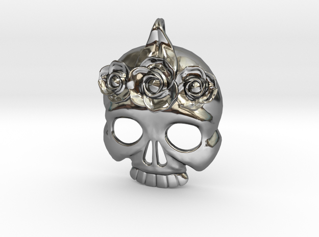 BlakOpal Skull with Rose Crown Charm