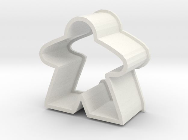 Meeple Chocolate Cutter Small almost meeple size in White Natural Versatile Plastic