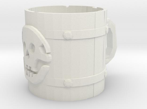 Liar's Dice skull mug in White Strong & Flexible