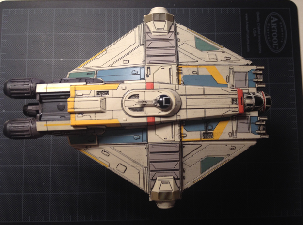 X-Wing Miniatures Ghost Docking Bay for Phantom in Black Hi-Def Acrylate