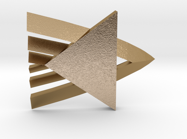 Rank Badge Level 1 - Ensign in Polished Gold Steel
