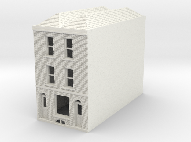RHS-7 N Scale Rye High Street building 1:148 in White Strong & Flexible