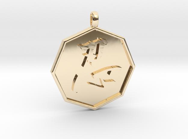 Shinobi pendant in 14k Gold Plated Brass