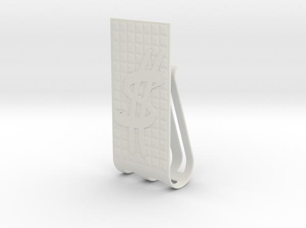 Dollar Sign Money clip in White Natural Versatile Plastic