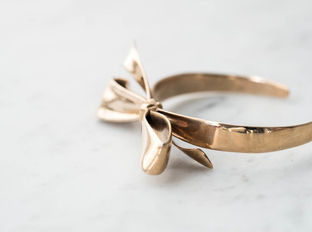 Ribbon Bracelet in Polished Bronze