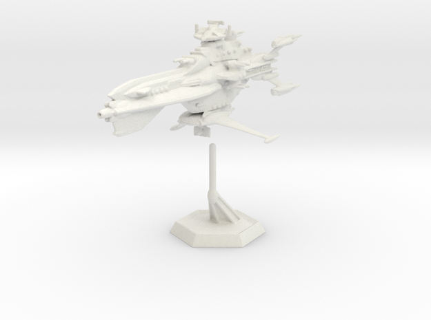 Star Sailers - Dauntless - Destroyer (refit) 002 in White Natural Versatile Plastic