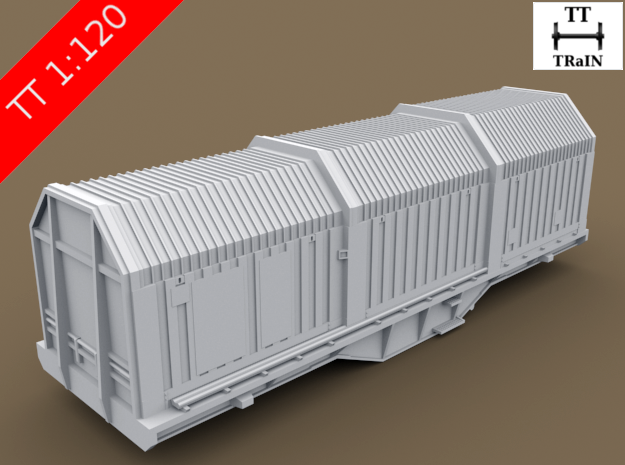 TT Scale Shimms Wagon (EU) in Smooth Fine Detail Plastic