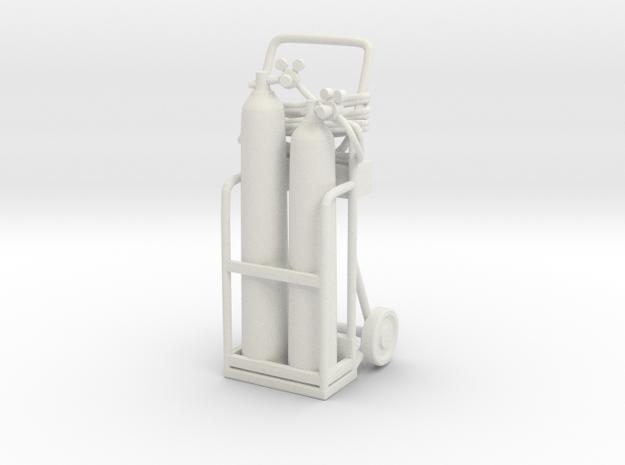 Oxy Acetylene Welder 01. 1:24 Scale in White Natural Versatile Plastic