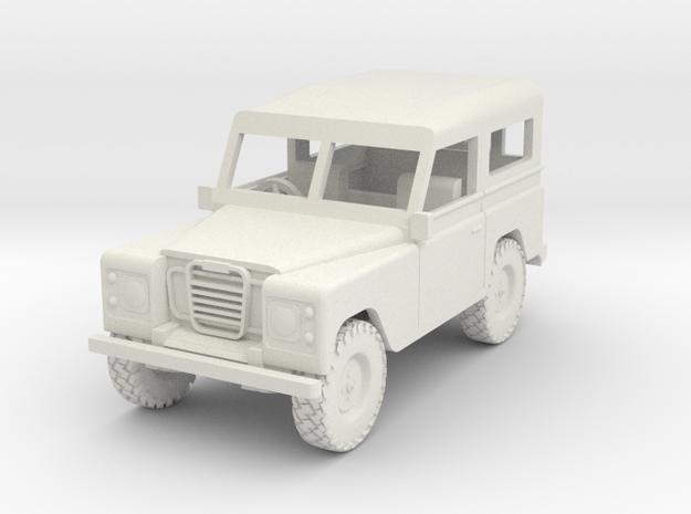 1/72 1:72 Scale Land Rover Hard Top Back  Wheel in White Strong & Flexible
