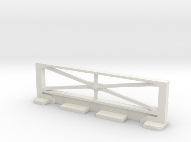 Basic Bulkhead Rail  in White Natural Versatile Plastic
