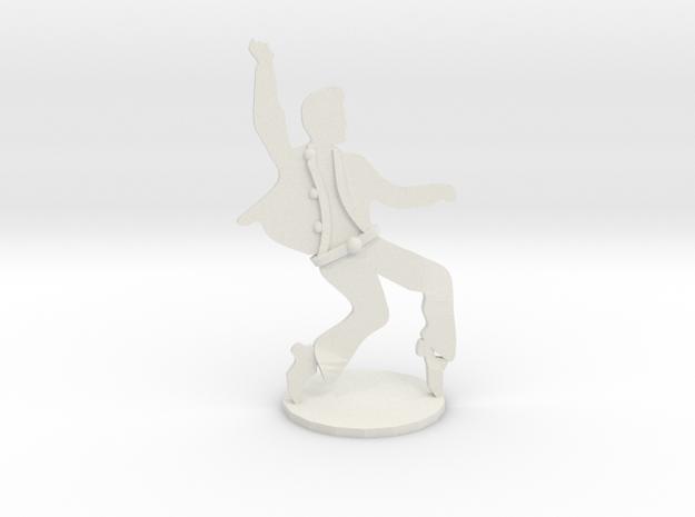 RockStar Dancin'- Statuette  in White Natural Versatile Plastic