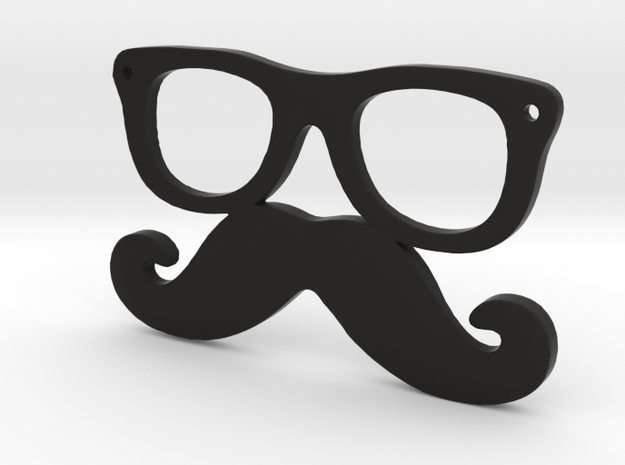 Mustache and glasses in Black Natural Versatile Plastic