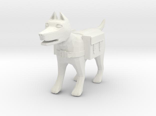 Adventuring Pack-Dog in White Natural Versatile Plastic