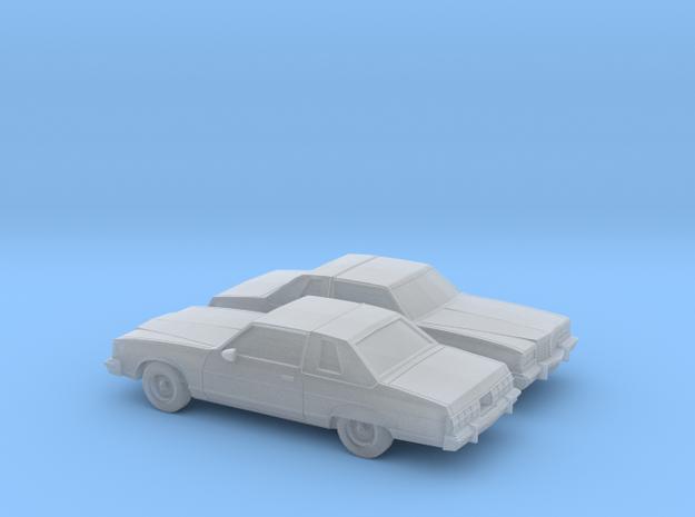 1/160 2X 1977 Pontiac Bonneville Landau Coupe in Smooth Fine Detail Plastic