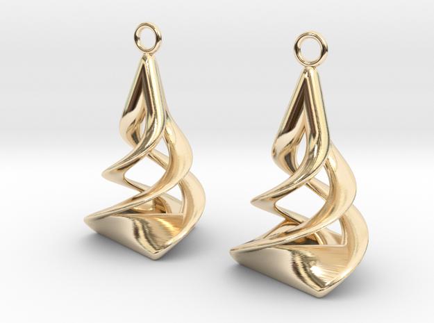 Twist earrings in 14k Gold Plated Brass