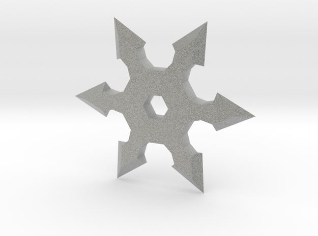 Shuriken Star 10cm in Metallic Plastic