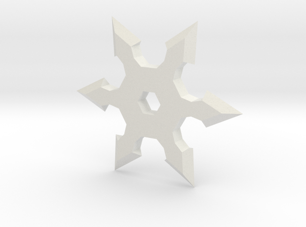 Shuriken Star 5cm in White Natural Versatile Plastic