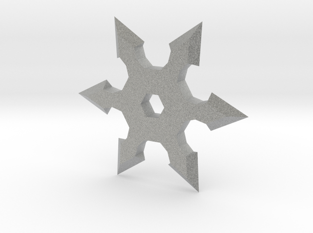 Shuriken Star 5cm in Metallic Plastic