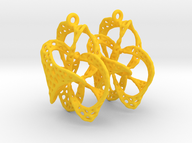 Implosion Earrings in Yellow Processed Versatile Plastic
