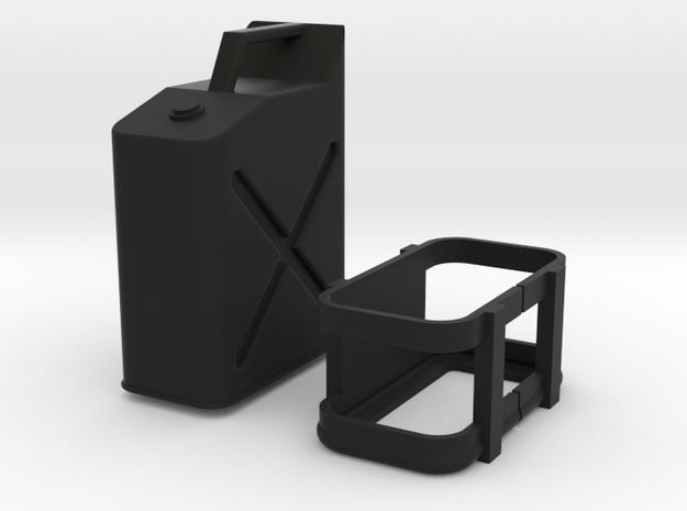 1:10 Scale fuel can in Black Natural Versatile Plastic