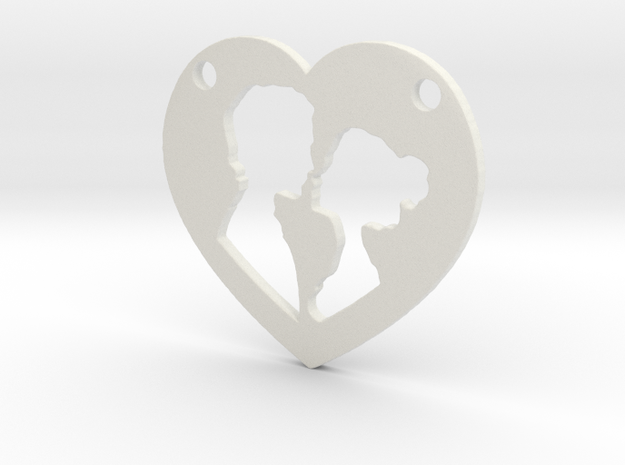 Love in White Natural Versatile Plastic