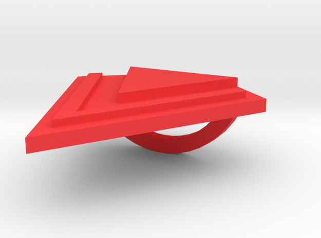 Scarf Holder - Triangle in Red Processed Versatile Plastic