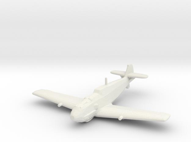 Messerschmitt Bf-109 E-4 'Emil' in White Natural Versatile Plastic: 1:200