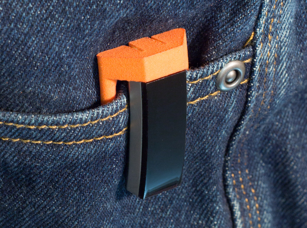 Pocket Clip for Fitbit Alta in Orange Processed Versatile Plastic