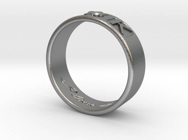 A and K Ring Size 5 in Natural Silver