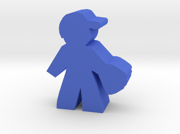 Game Piece, Baseball Player in Blue Processed Versatile Plastic