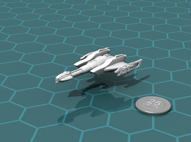 Ngaksu Cyclone 3d printed Render of the model, with a virtual quarter for scale.