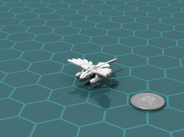 Murustan Salamander class Scout 3d printed Render of the model, with a virtual quarter for scale.