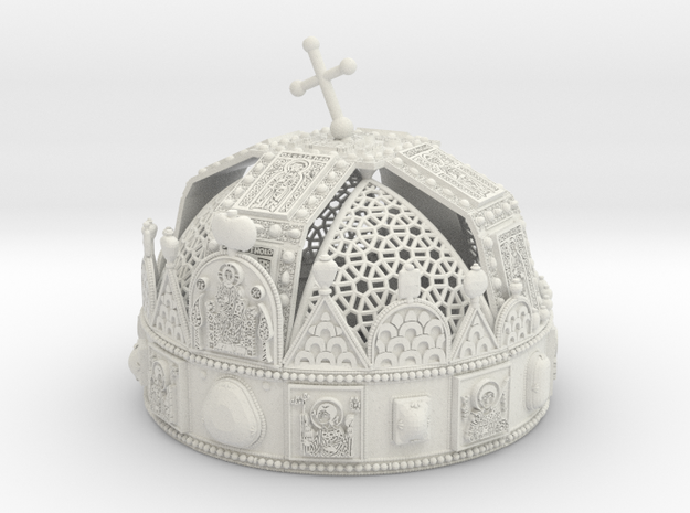Hungarian Holy Crown with net - half scale